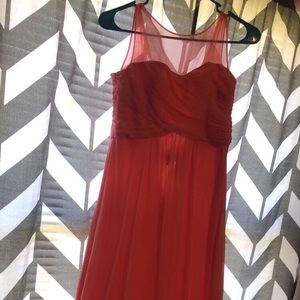 coral bridesmaid/ prom dress